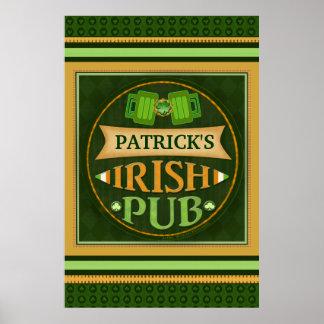 St Patrick's Custom Irish Pub Poster / Print