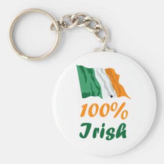 St. Patricks Day 100% Irish Keychain