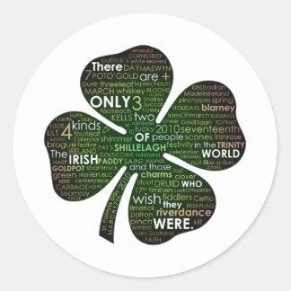 St Patrick's Day 2010 Classic Round Sticker