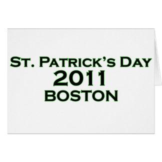 St. Patrick's Day 2011 - Boston Card