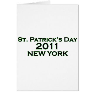 St. Patrick's Day 2011 - New York Card