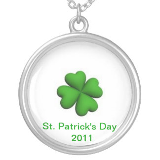 St. Patrick's Day   2011 Round Pendant Necklace