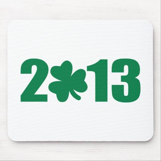 St. Patrick's day 2013 shamrock Mousepads
