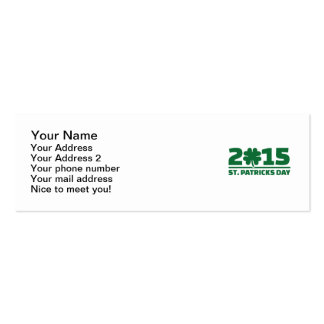 St. Patrick's day 2015 Business Cards