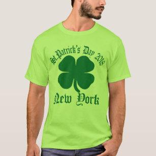 5703d47f6 St Patricks Shamrock New York T-Shirts - T-Shirt Design & Printing ...