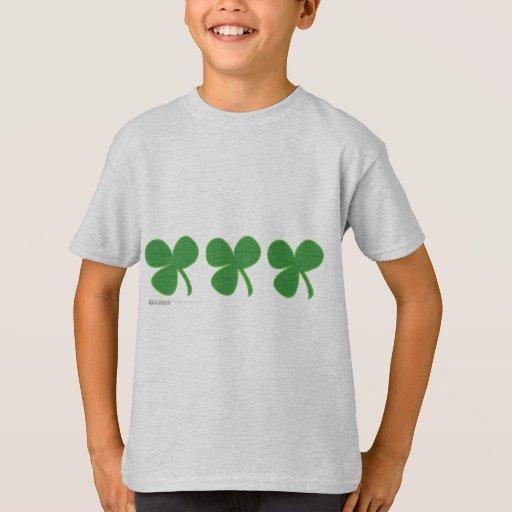 St Patrick's Day 3 Leaf Clover - Green Lucky Irish T-Shirt