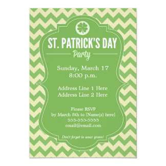 St. Patrick's Day 4-Leaf Clover Party Invitation