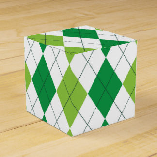 St. Patrick's Day Argyle Favor Box