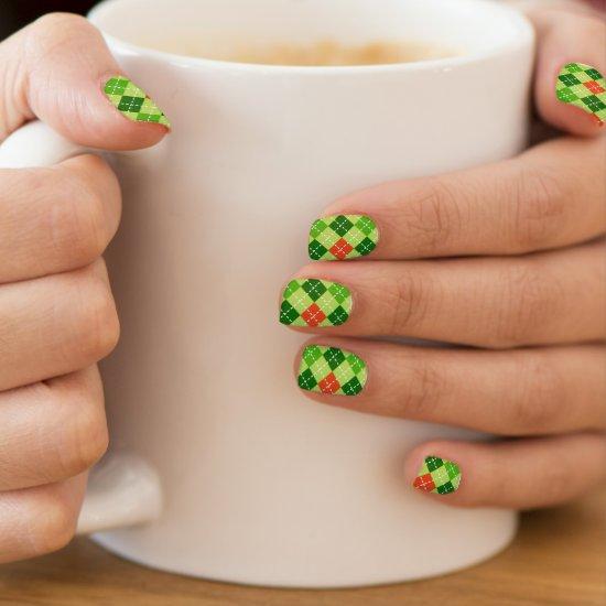 St. Patricks Day Argyle Minx Fingernail Decals