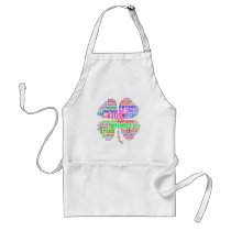 St. Patrick's Day Autism Awareness Products Adult Apron