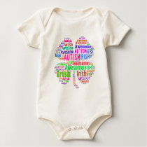 St. Patrick's Day Autism Awareness Products Baby Bodysuit