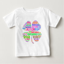 St. Patrick's Day Autism Awareness Products Baby T-Shirt
