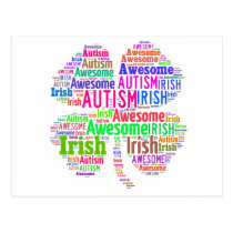 St. Patrick's Day Autism Awareness Products Postcard