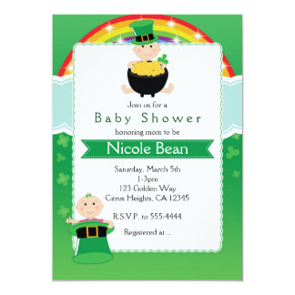 St. Patrick's Day Babies Baby Shower Invitation