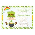 "St Patricks Day Baby Shower Invitation 5"" X 7"" Invitation Card"