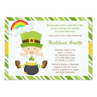 St Patricks Day Baby Shower Invitation
