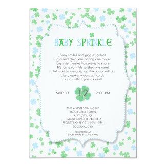 St Patrick's Day Baby Sprinkle / blue boy Card