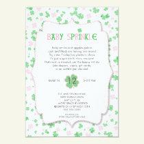 St Patrick's Day Baby Sprinkle / pink girl Invitation