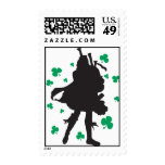 St. Patricks Day Bagpiper Stamps
