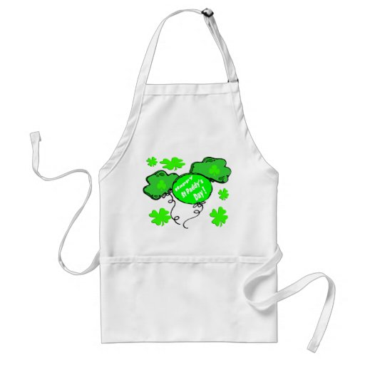 St Patrick's Day Balloons Adult Apron