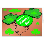 St Patrick's Day Balloons Greeting Card