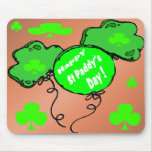 St Patrick's Day Balloons Mouse Pad