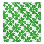 St Patricks Day bandana   Green shamrock pattern