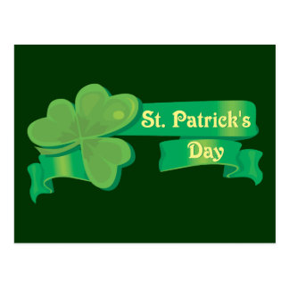 St. Patrick's Day Banner Postcard