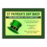 St Patrick's Day Bash Hat Invitation Invites