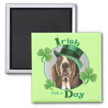 St. Patrick's Day Basset Fridge Magnets