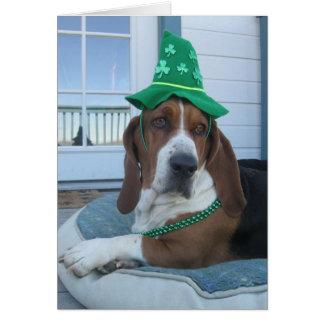 St. Patrick's Day Basset Hound Card
