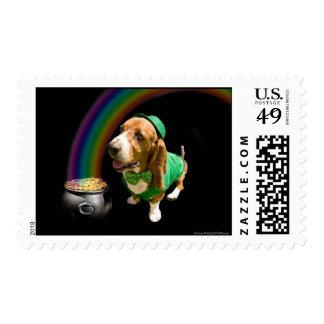 St Patrick's Day Basset Postage