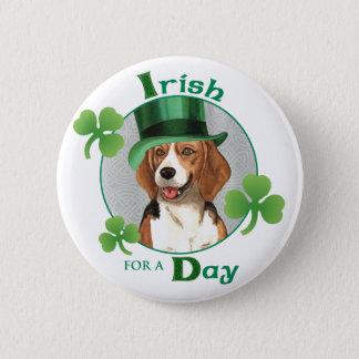 St. Patrick's Day Beagle Pinback Button