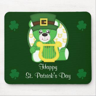 St. Patrick's Day Bear Mouse Pad