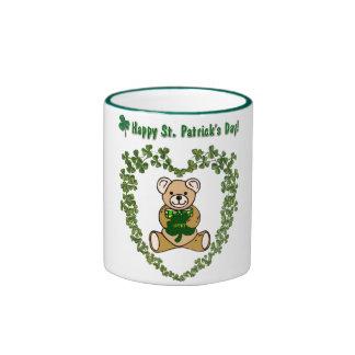 St. Patrick's Day Bear Mug Ringer Mug