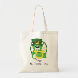 St. Patrick's Day Bear Tote Bag