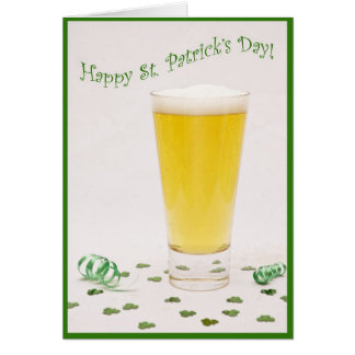 St Patrick's Day Beer Card
