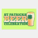 ST Patricks Day BEER Celebration Rectangular Stickers