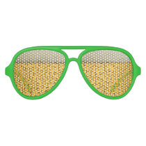 St Patricks Day Beer Goggles Aviator Sunglasses