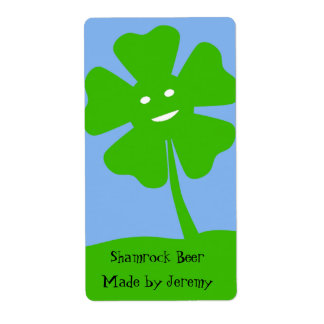 St. Patrick's Day Beer Label Shipping Label