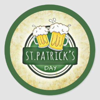 St. Patrick's Day Beer Party Stickers