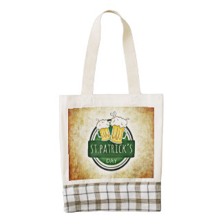 St. Patrick's Day Beer Zazzle HEART Tote Bag