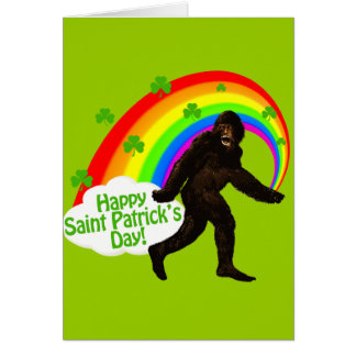 St. Patrick's Day Bigfoot Greeting Cards