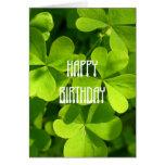 St. Patrick's Day Birthday Card