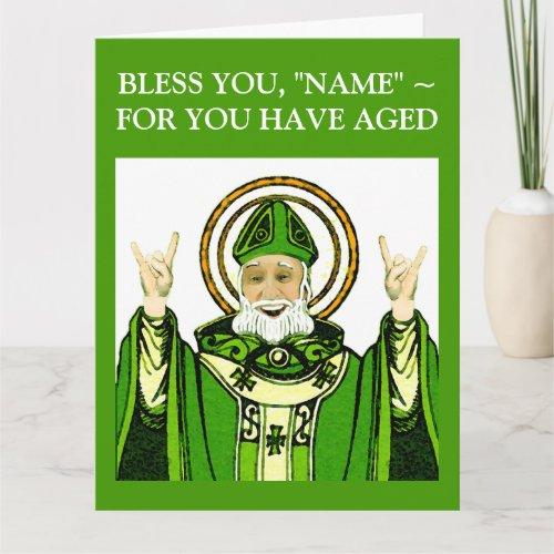 St Patricks Day Birthday Card