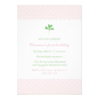 St Patricks Day Birthday Girl Pink Green Shamrock Cards