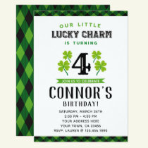 St Patrick's Day Birthday Invitation