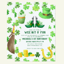 St. Patrick's Day Birthday Party Card