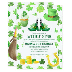 St. Patrick's Day Birthday Party Card at Zazzle