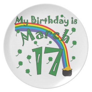 St. Patrick's Day Birthday Party Plates